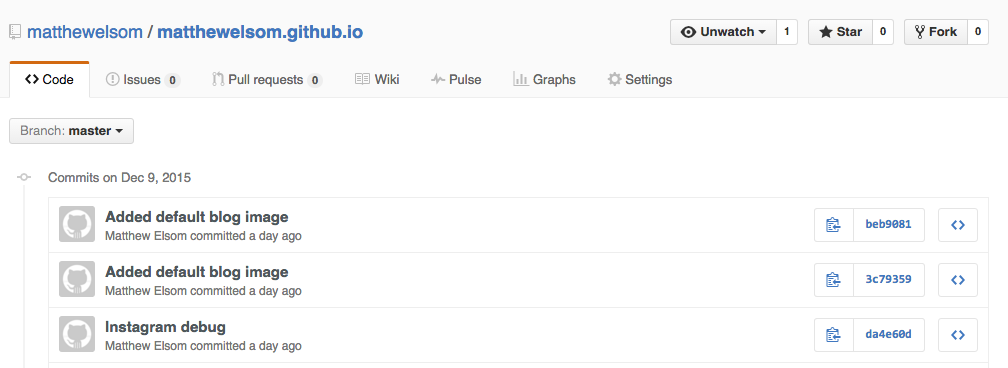 Getting Started with Jekyll & Github Pages | Matthew Elsom