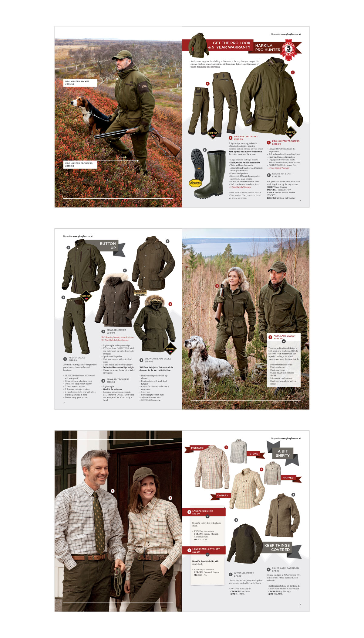 GB Outfitters Autumn/Winter 2012 Brochure